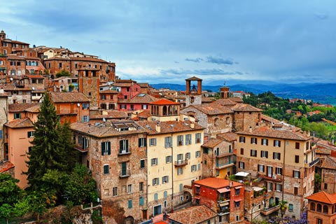 Perugia Italy places to visit in the important Umbrian town of Perugia