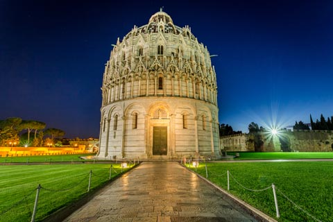 The baptistry in Pisa in the Campo dei Miracoli