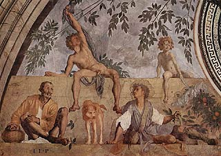 Fresco by Pontormo in the medici Villa at Poggio a caiano