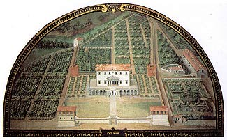 Medieval painting of Medici Villa