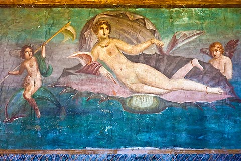 Wall painting of Venus in Pompeii