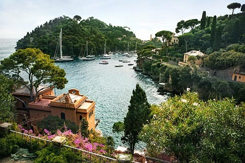 attractive bay in Portofino