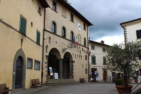 town hall in main piazza in Radda