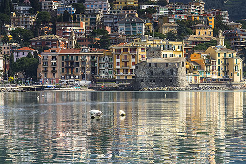 lovely seafront and harbour in Rapallo