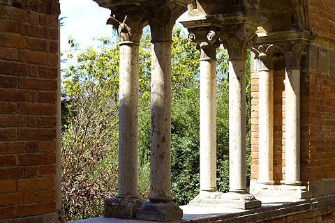 Columns in cloisters