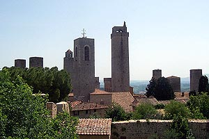 View of medieval towers
