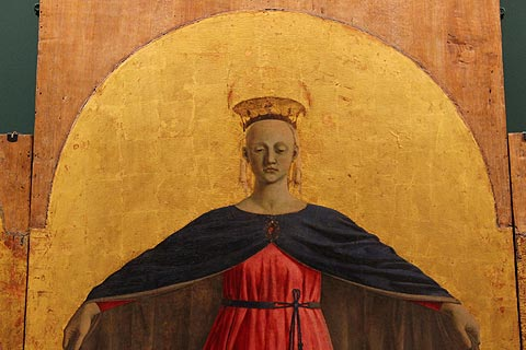 detail of Madonna by Piera della Francesca