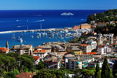 Beautiful azur sea and harbour