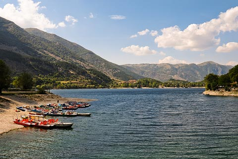 Scanno Lake is a popular leisure activity destination