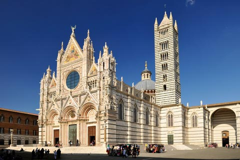 Beautiful cathedral in Siena