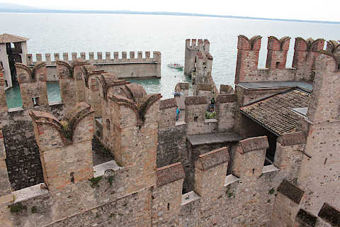 Fortress at entrance to Sirmione