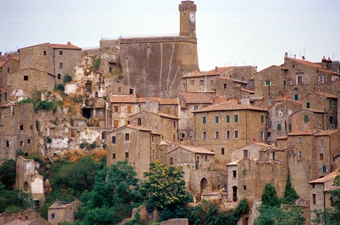 View of Sorano from nearby