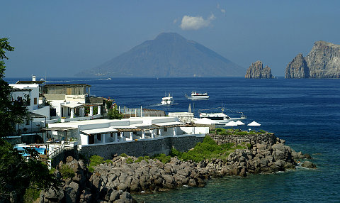 view of Stromboli from Panarea