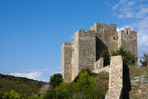 Castle of the Aldobrandesci Counts on hill above Talamone