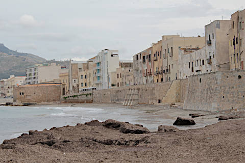 Waterfront in Trapani old town