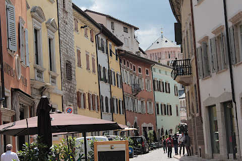 Street in Trento city centre