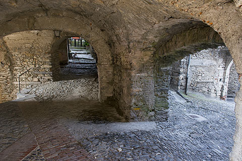 vaults under houses in Triora centre