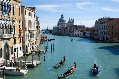 View along the famous Grand Canal