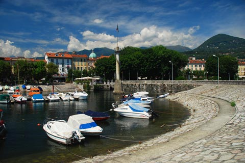 small boats in Verbania harbour