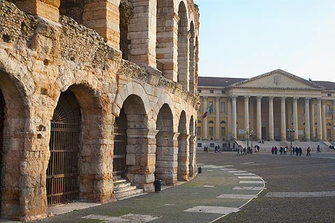 Verona has one of the biggest arenas in Italy