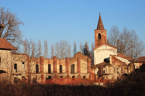 Mortara Abbey near Vigevano